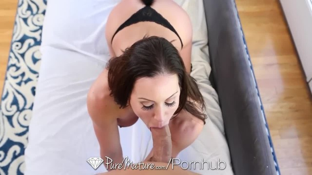 PUREMATURE Dick Sucking MILF Kendra Lust Strips and Fucks before Party