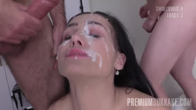 PremiumBukkake - Nicole Love Swallows 66 Big Loads in Gangbang Bukkake