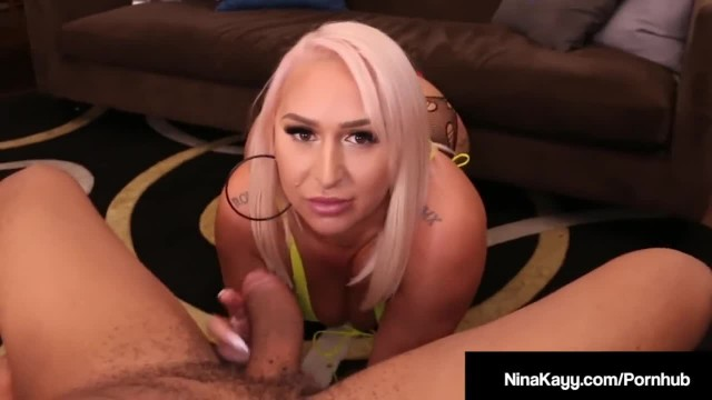 Cock Hungry Nina Kayy Wraps her Thick Lips on A Fat Dick!