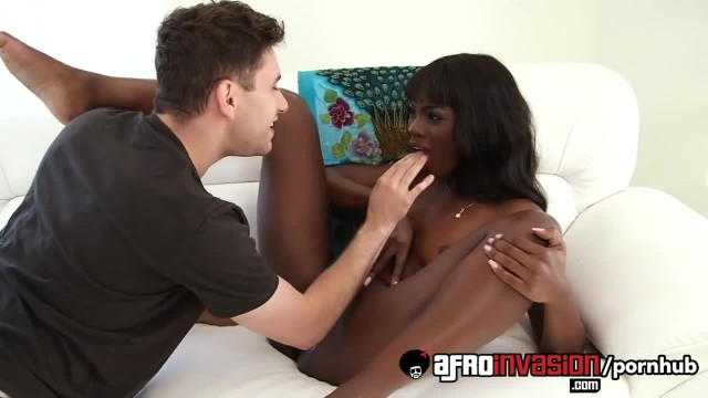 Ebony Teen Ana Foxxx Takes a Facial Cumshot