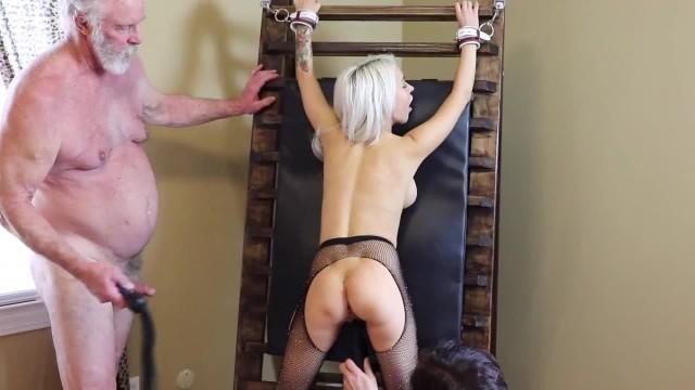 Sandra Luberc Flog 'N Finger BDSM Session