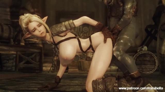 Lucky Goblins Fuck Elf Babe in Skyrim