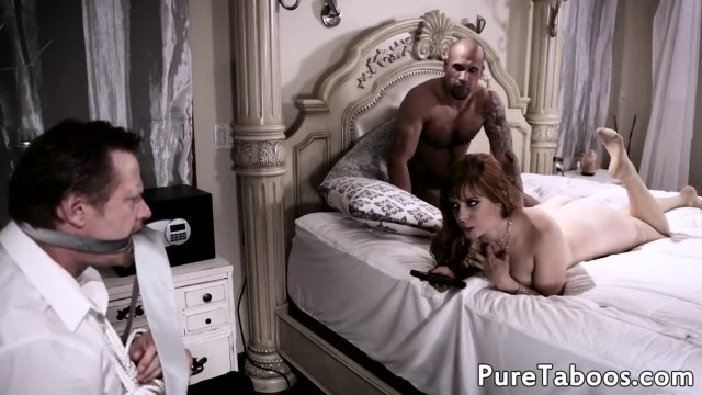 Nasty milf cuckolds her hubby and fucks dick