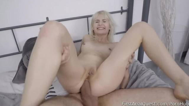 Blonde hottie gets rough sex treatment and anal fuck