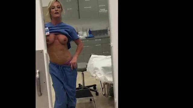 MILF Nurse gets Fired for Showing Pussy on Camsoda