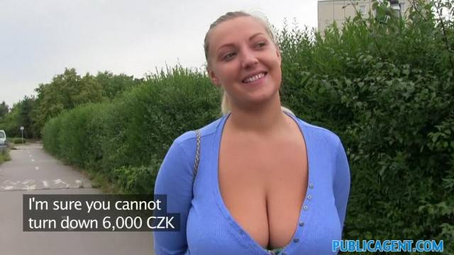 PublicAgent Amateur with Crazy BIG Boobs being Fucked outside