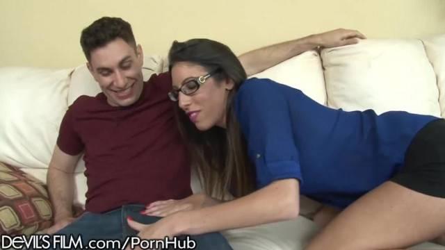 DevilsFilm Stepmom Comforts Sons Cock