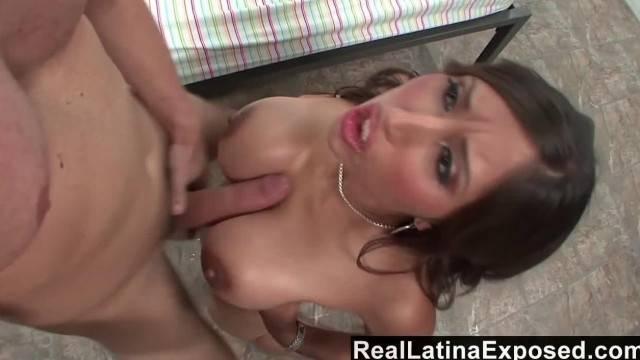RealLatinaExposed Alexis Breeze Huge Boobs Sprayed with Jizz