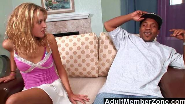 Small Blonde Takes on Shorty s Supersized Cock