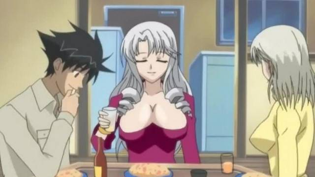 Sexy Slut Seduces her Future Roommate with her Big Tits Hentai xxx